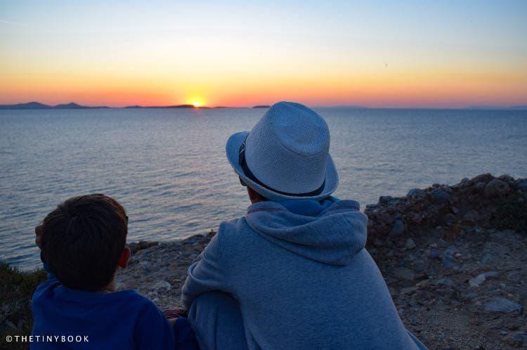 Kids sunset