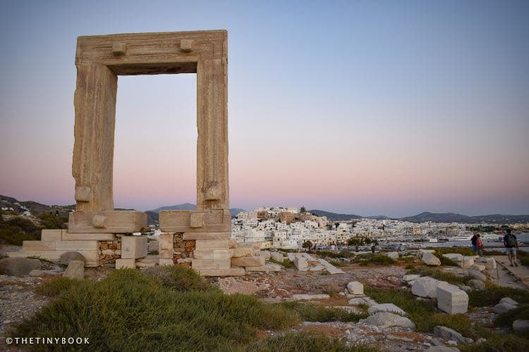 Sunset at the Portara, Naxos, Greece
