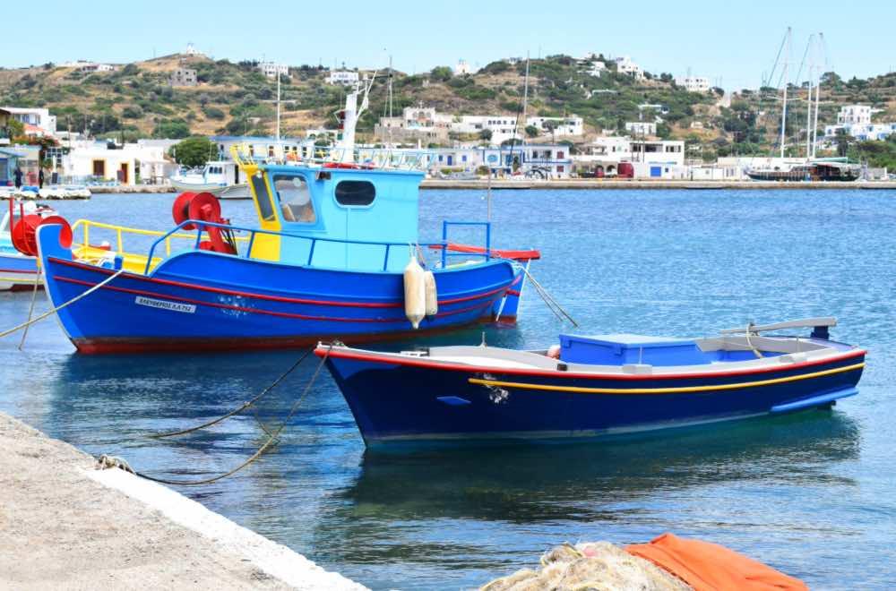 GREECE - LIPSI ISLAND - PORT - BOATS
