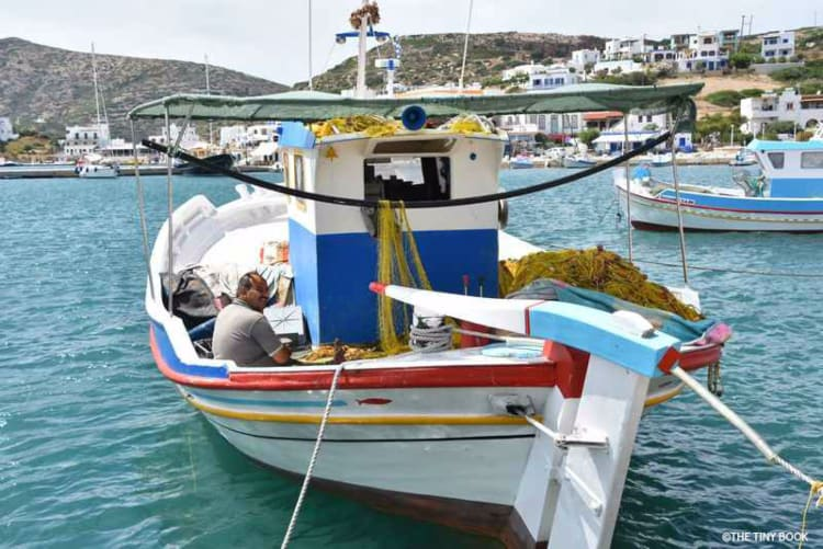 Lipsos, Dodecanese - Fishing port.