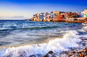 GREECE - MYKONOS ISLAND - PORT - LITTLE VENICE