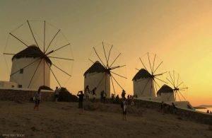 GREECE - MYKONOS - WINDMILLS
