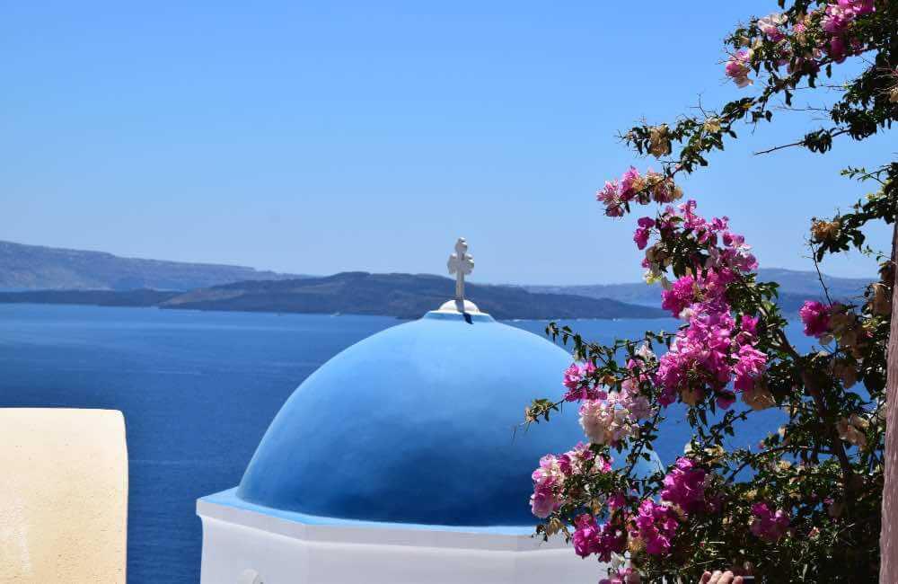 GREECE - SANTORINI - OIA - BLUE DOME