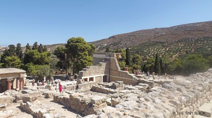 Inside Crete's Minoan Palace.