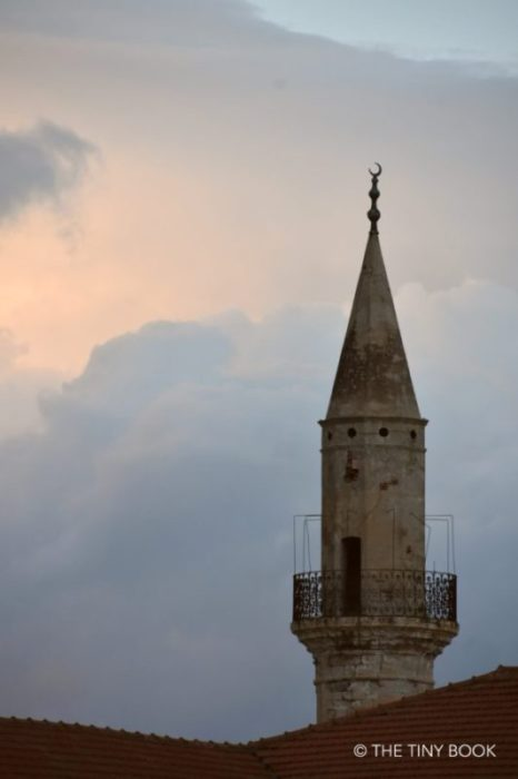 Minaret in the heart of the Turkish district of Chania. Crete.