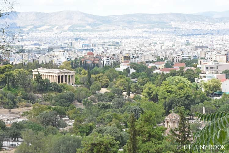 Aerial view of the Ancient Agora. Athens