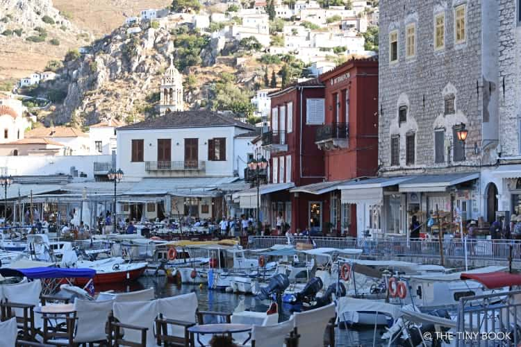 A walk along the seafront promenade is a great idea for an afternoon in Hydra.
