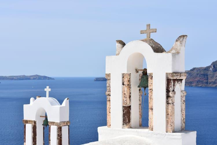 Church bell santorini
