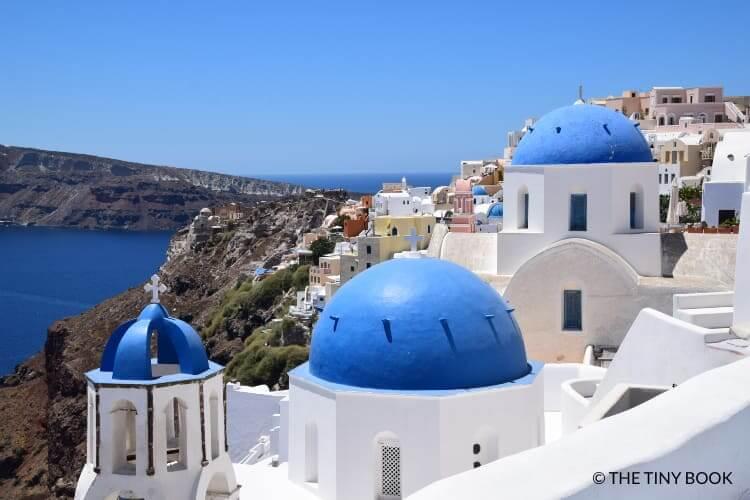 Three blue domes, Santorini.