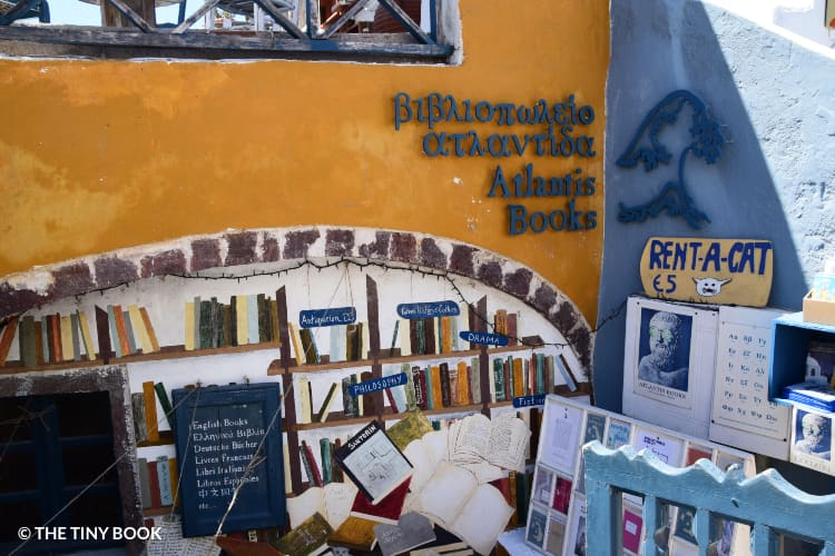 Santorini Atlantis bookstore.