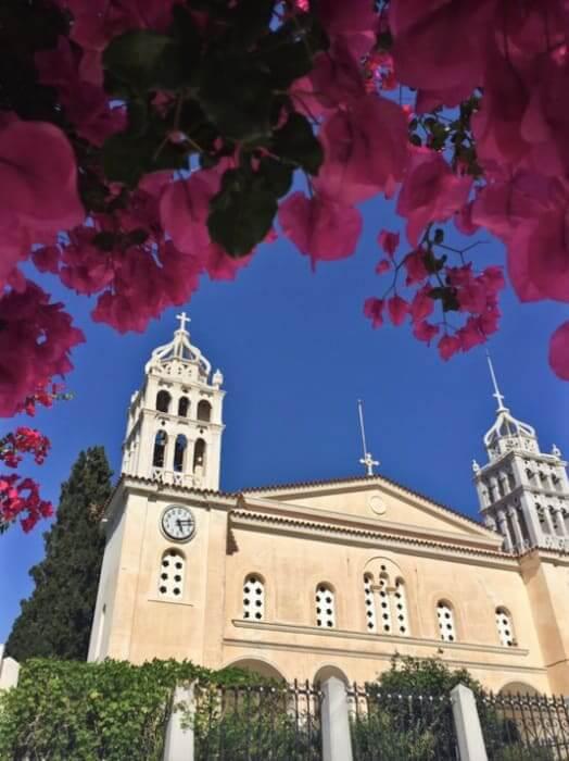 The church of Agia Triada, Lefkes