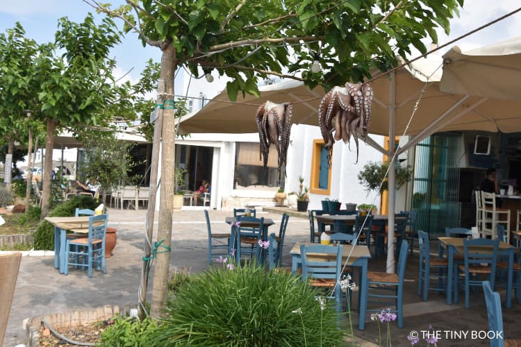 Tavernas in the port of Naoussa
