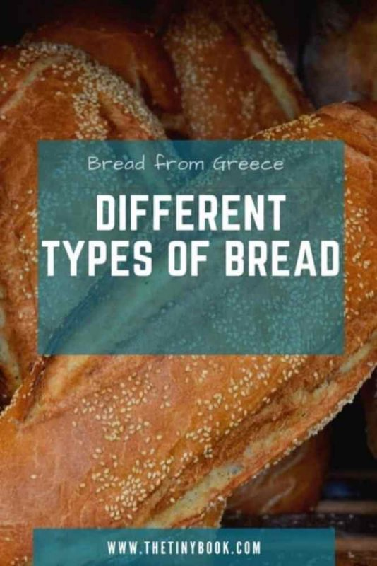 Different types of Greek bread