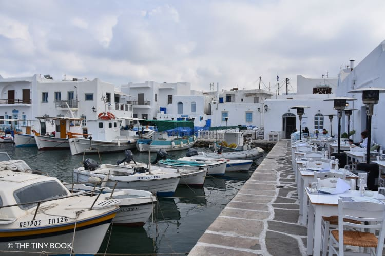 The picturesque fishing port of Naoussa
