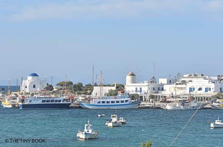 Port of Antiparos, Greece.
