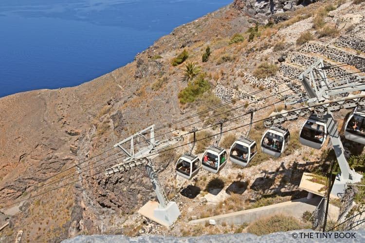 Cable car, Santorini Greece