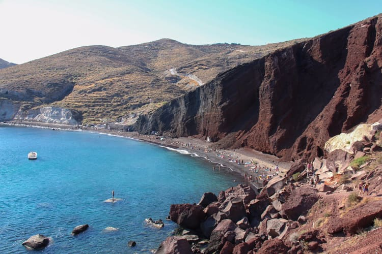 Red Beach and White Beach, Akrotiri