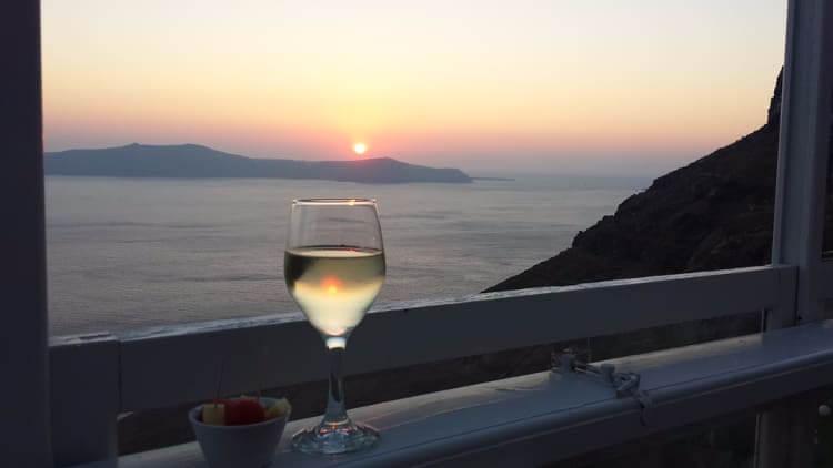 Wine santorini , Greece