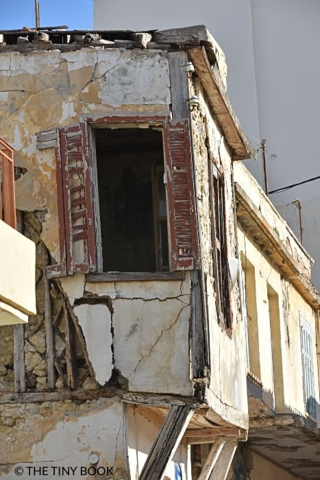 Abandoned house, Lakkos quarter, Heraklion, Crete