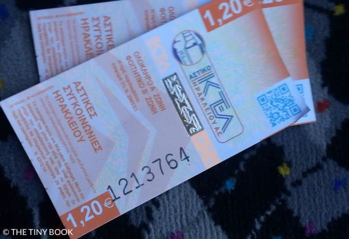 Bus tickets, Heraklion, Crete.