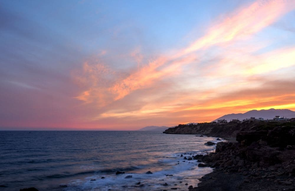 GREECE - CRETE - IERAPETRA AT SUNSET