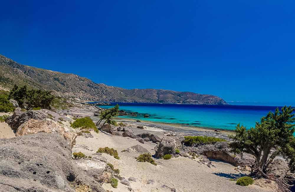 blue sea, sand, beach, Crete