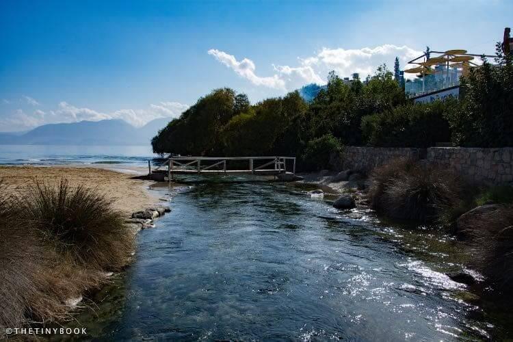 Almyros beach and river.