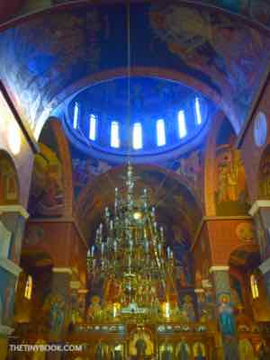 inside church, dome, Crete