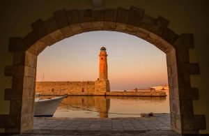GREECE - CRETE - RETHYMNON LIGHTHOUSE