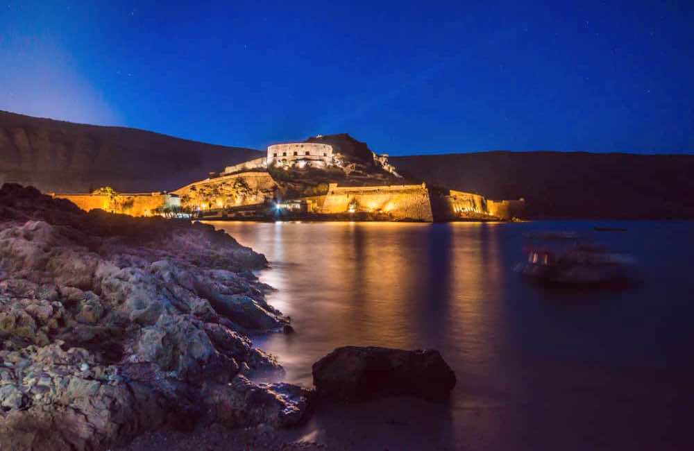 GREECE - CRETE - SPINALONGA - NIGHT