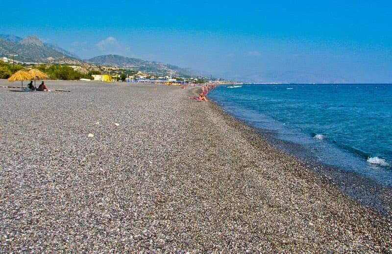 beach,sea, pebbles - Megali paralia ierapetra - Crete