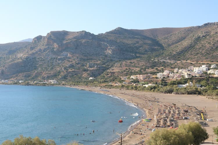 Pachia ammos beach in Paleochora, Crete