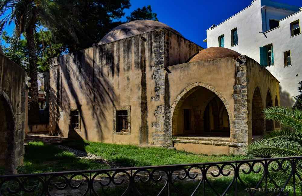 old mosque, gardens, Rethymnon, Crete