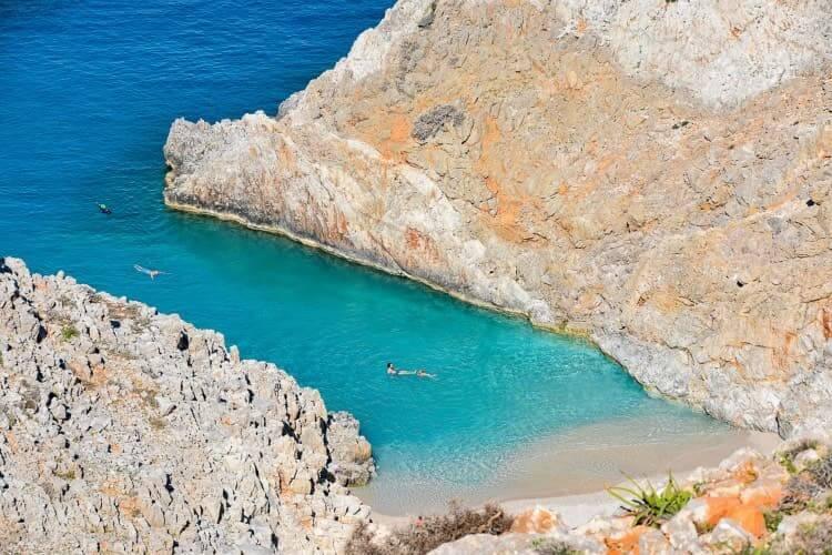 Stefanou Beach, better known as Seitan Limania, Crete.