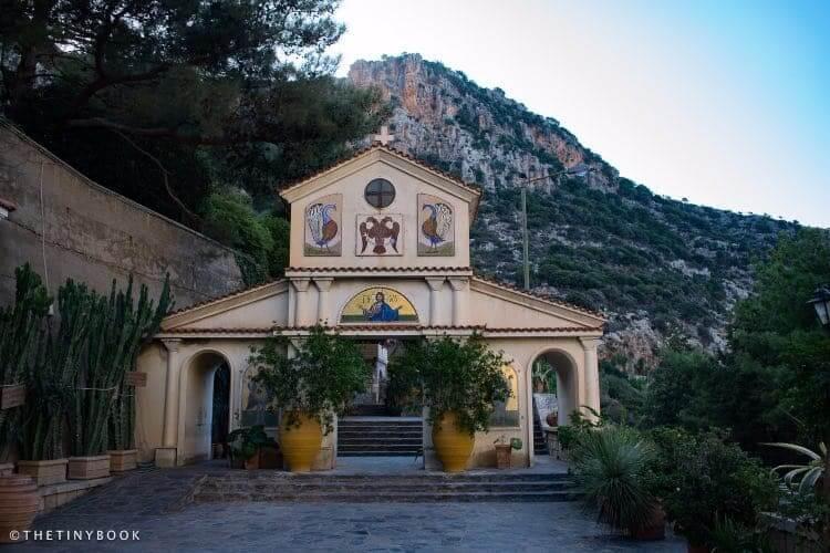 Entrance to Selinari Monastery, Ag. Nikolaos. Crete.