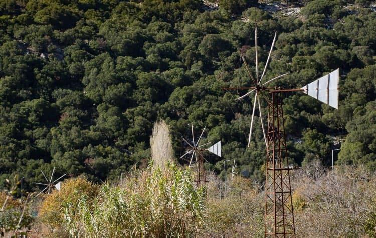 Windpumps Lasithi Plateau