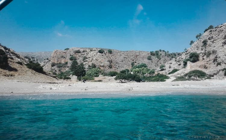 Menies beach, Rodopou peninsula, Crete