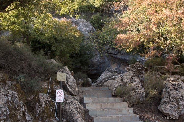 Zeus cave entrance.