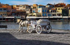 port, houses, Venetian Harbor Chania