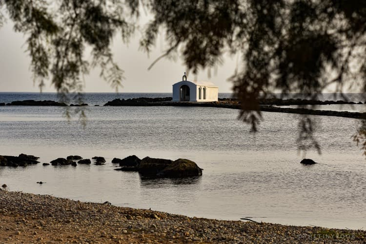 Chapel, sea, beach, Georgioupoli, Crete