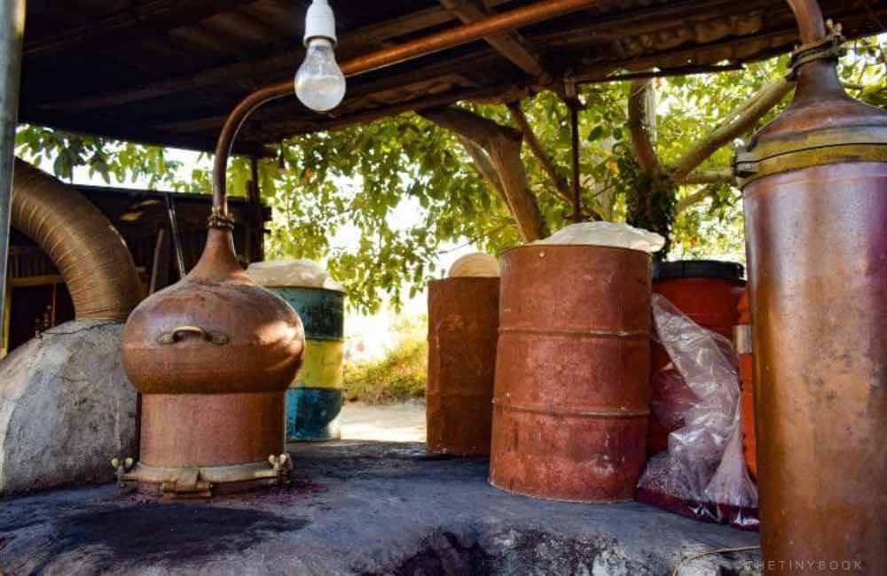raki cauldron, raki making, Crete