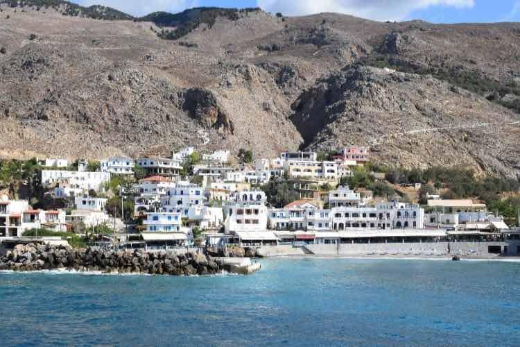 Sea, mountains, Chora Sfakion, Crete