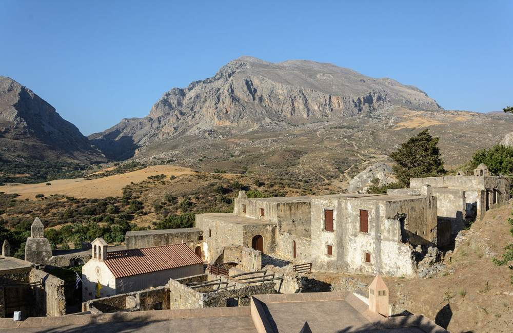 monastery, church, crete