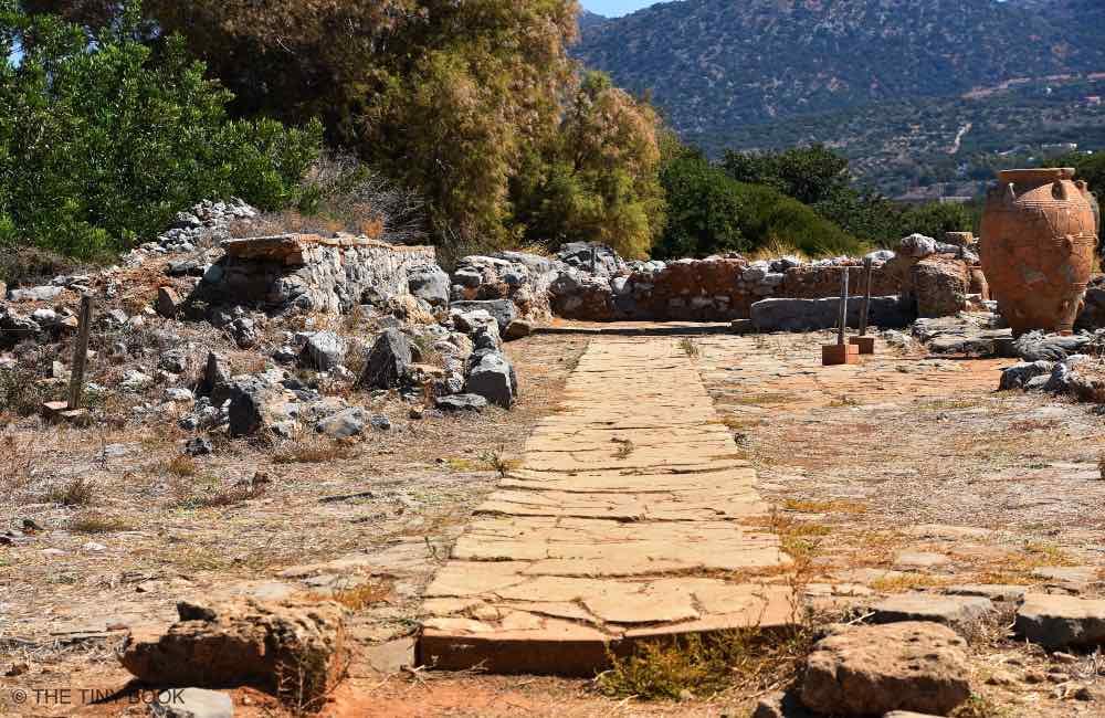 Minoan ruins, archaeological site, Malia, Crete