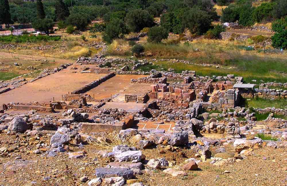 minoan ruins, archaeological site, Zakros, Crete