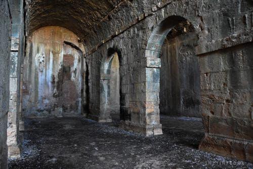 Roman cisterns, aptera archaeological site Crete