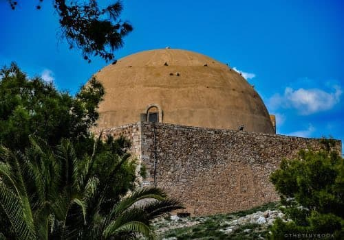 domed roof, mosque, Crete,