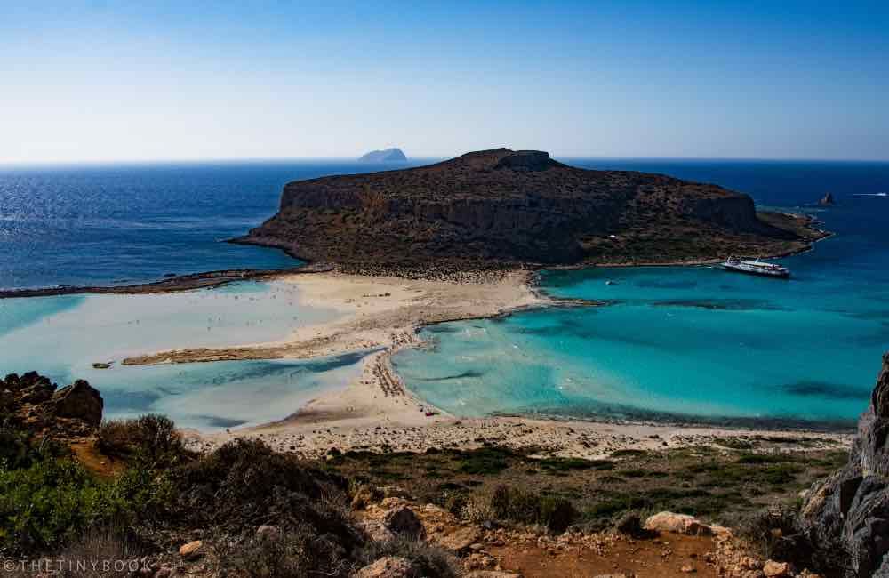 Island, Peninsula, Balos beach, Sea, Crete
