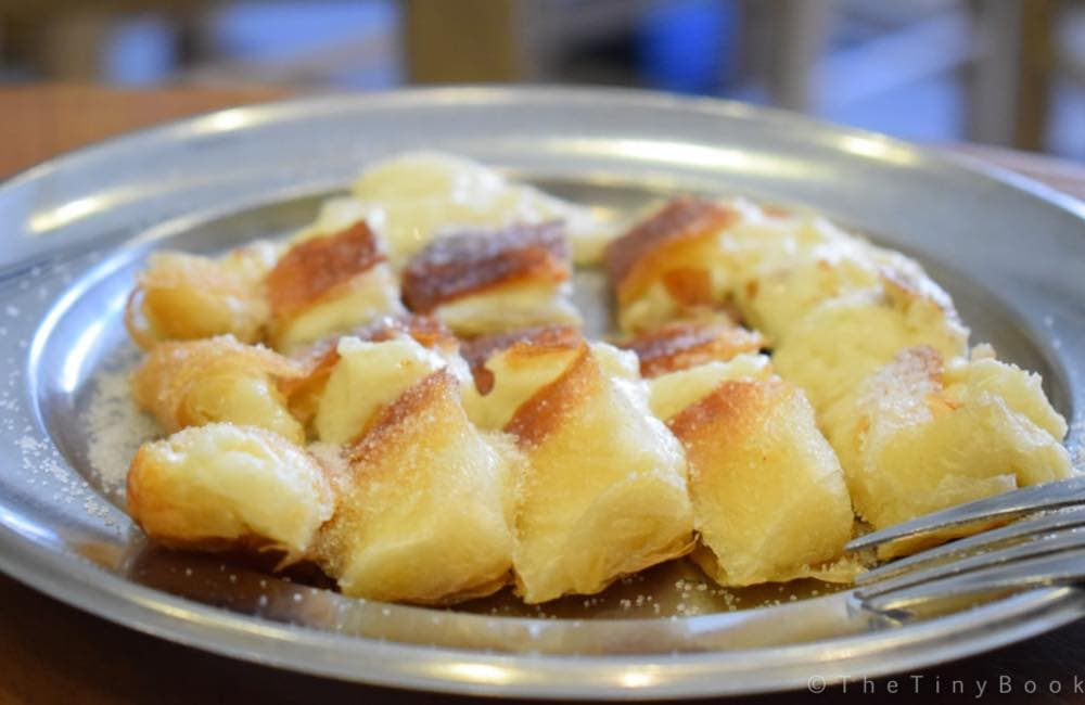 pastry with custard, bougatsa, Chania, Crete