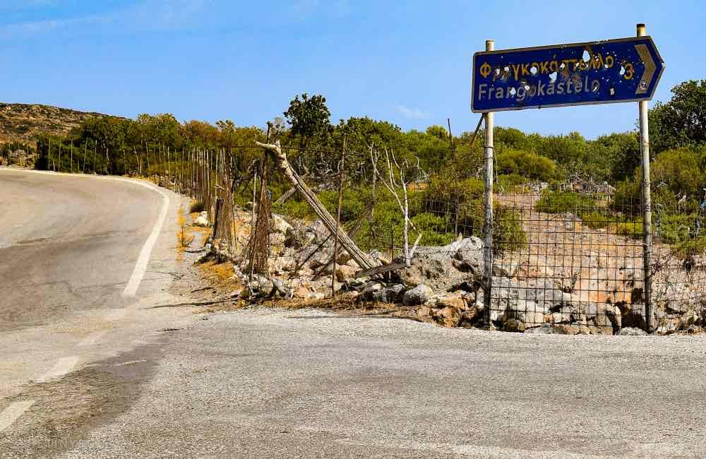 Signpost, road, Crete